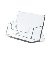 Business card holder clear 55 x 95 x 39 mm