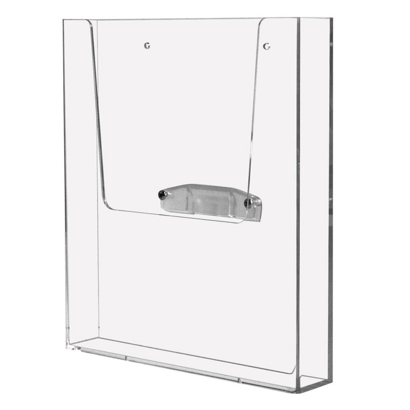 Leaflet dispenser for wall avec adapter (8 pcs per box) A4