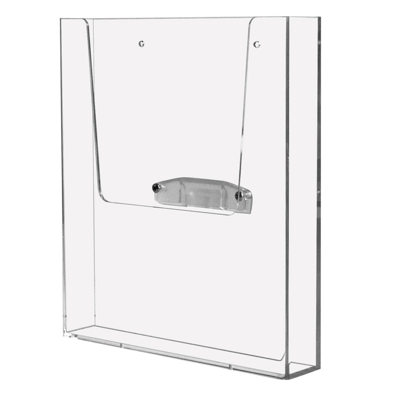 Leaflet dispenser for wall with adapter
