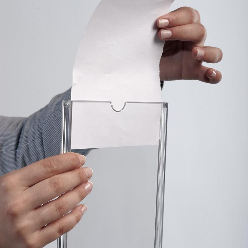 Oval leaflet holder 4 x 6 inch