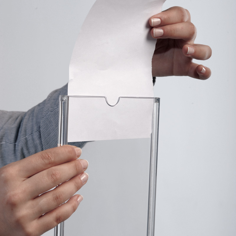 Oval leaflet holder A4