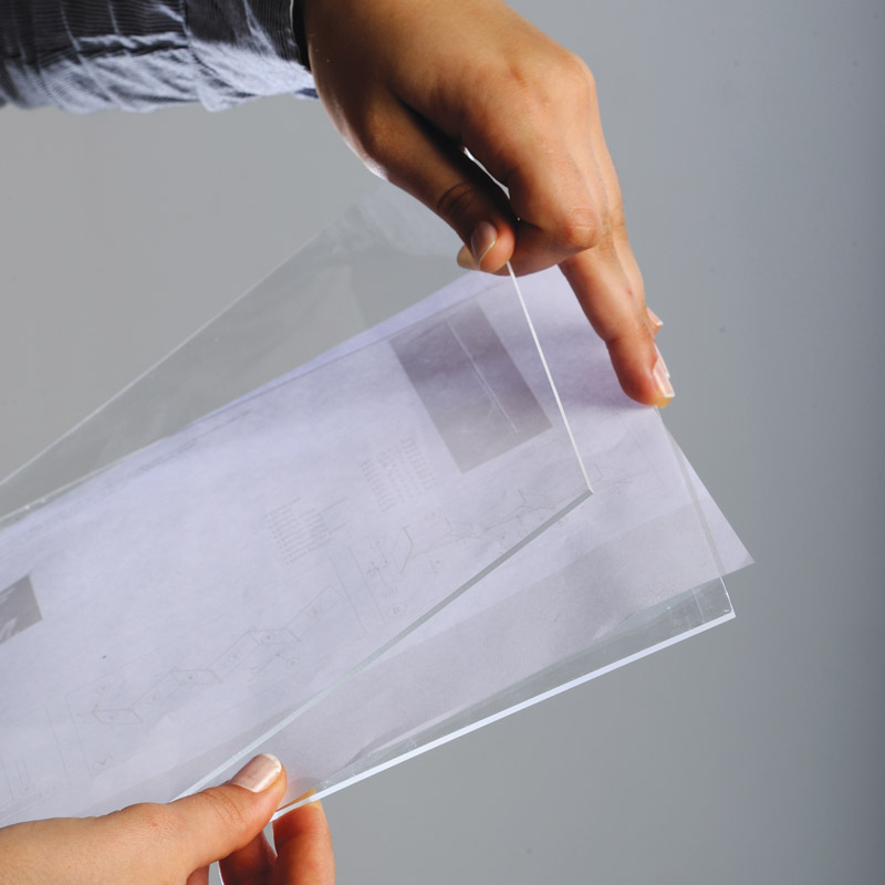Upright flyerhouder geheel van plastic A5 25 stuks in doos