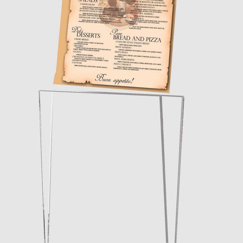 Rocket menu holder black