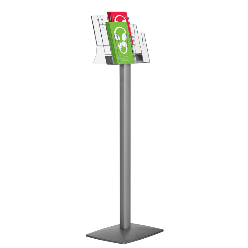Pillar leaflet dispenser 3 tiers 6xA4ø3