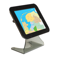 Universal Desktop Kiosk, black top