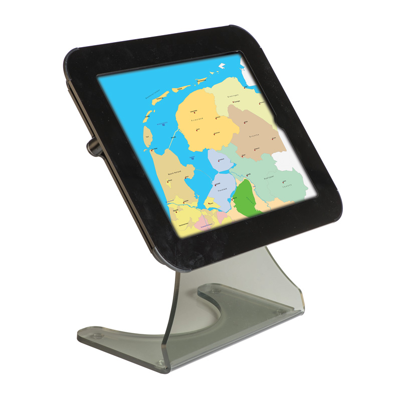 Desktop kiosk for ipad - black cover on top