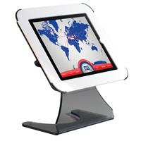 I-Pad houder voor op bureau met witte bovenzijde, zowel liggend als staand