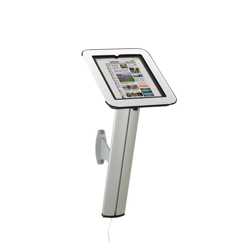 Novel kiosk for ipad for wall white cover on top