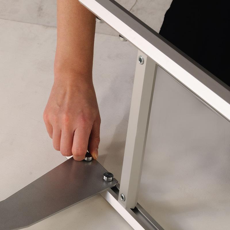 Rapid brochure set silver- 2 tiers - 1000 mm height