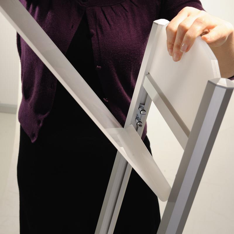 Rapid brochure set black- 2 tiers - 1000 mm height