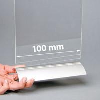 Swing Wing voetstuk 100 mm zilver geanodiseerd (12 in doos)