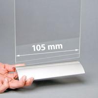Swing Wing voetstuk 105 mm zilver geanodiseerd (12 in doos)