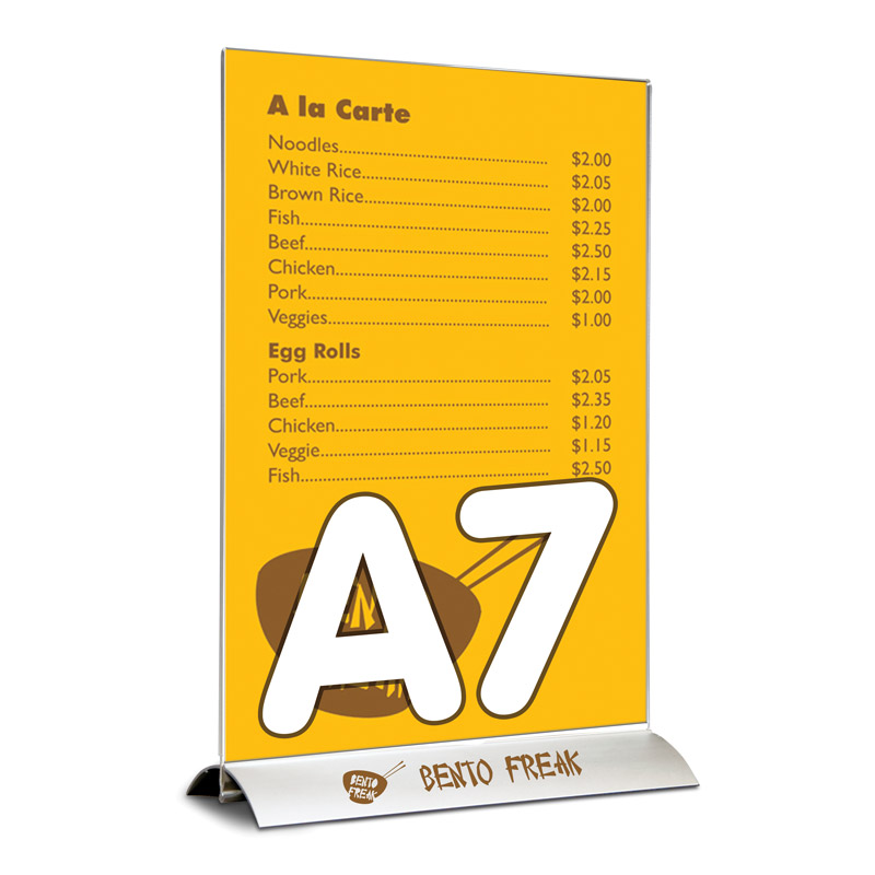 Swing wing brochure holder A7 portrait