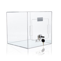 Collection box, transparent
