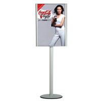 Convex box  A1 dubbelzijdig op Freestanding staander onverlicht 594 x 841 mm