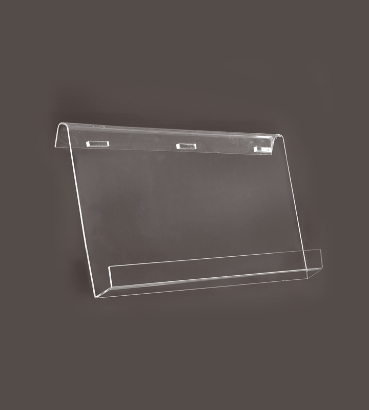Acrylic shelf single-sided 4 x A4