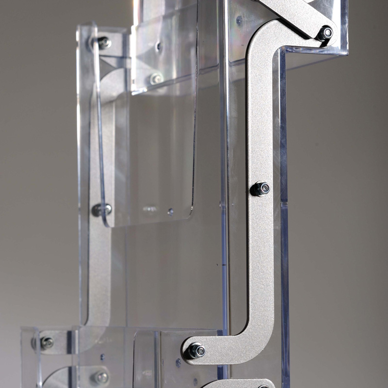 New age portable acrylic zickzack stand with bag