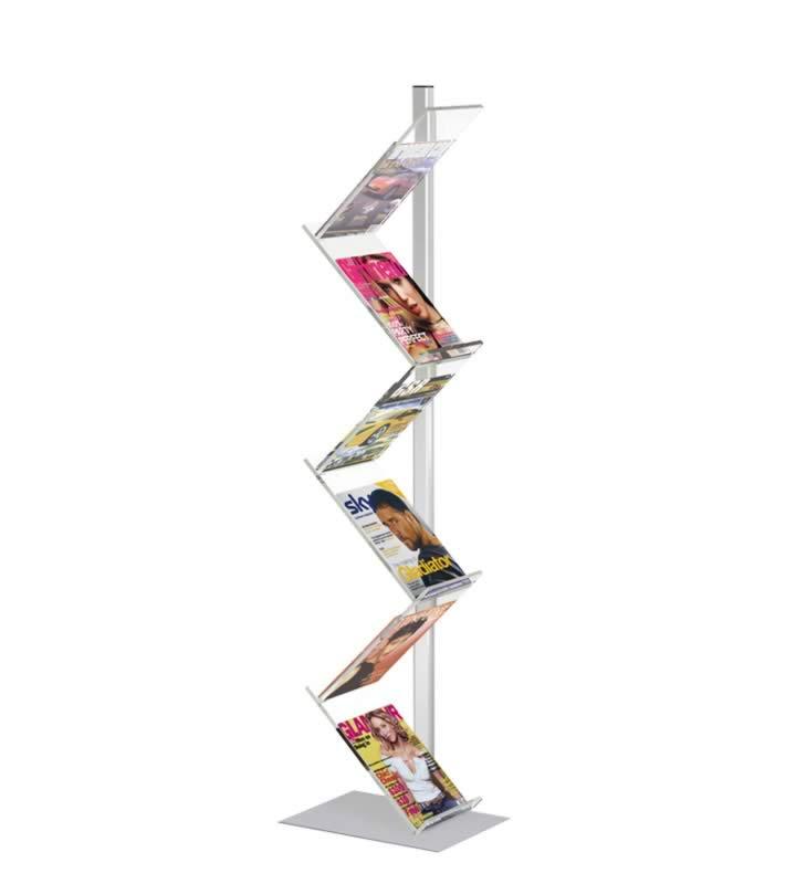 Pieds pour le support de brochures avec Pied simple 6 x A4