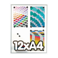 Magneetbord 9 mm profiel 12 x A4