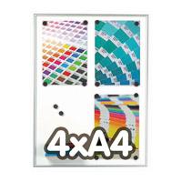 Framebord 9 mm magnetisch 4 x A4