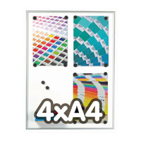 Magneetbord 9 mm profiel 4 x A4