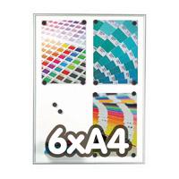 Magneetbord 9 mm profiel  6 x A4