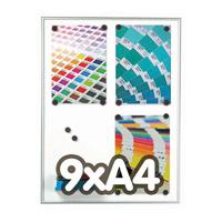 Magneetbord 9 mm profiel 9 x A4
