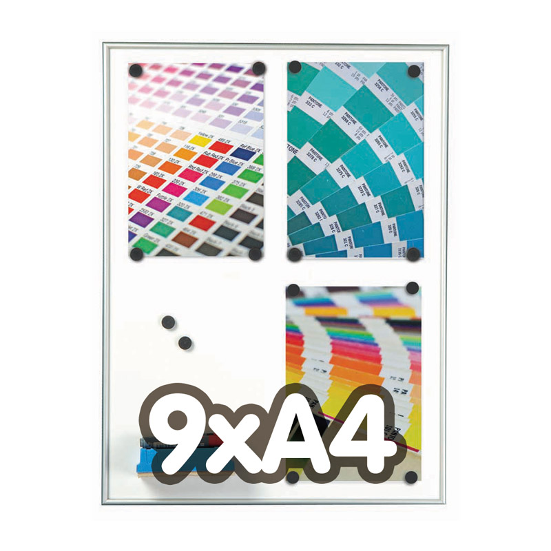 Framebord 9 mm magnetisch, 9 x A4