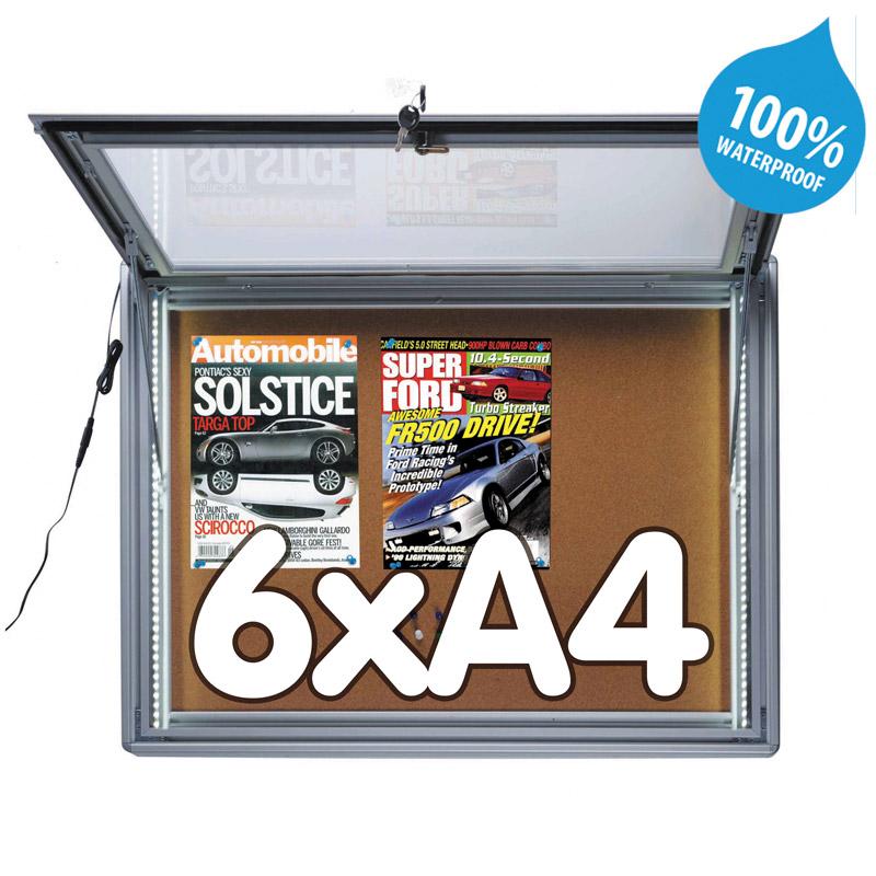 Notitiebord kurk 6xA4 LED