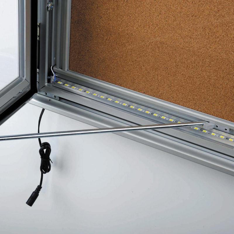 Notitiebord kurk 9xA4 LED