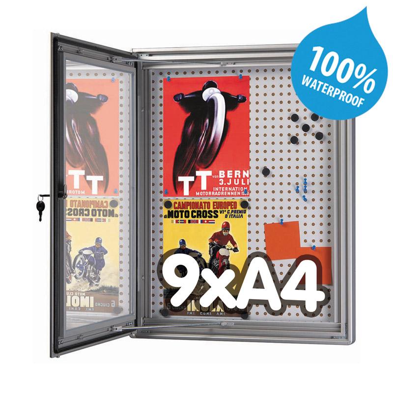 Notitiebord, magnetisch en kurk, 9xA4