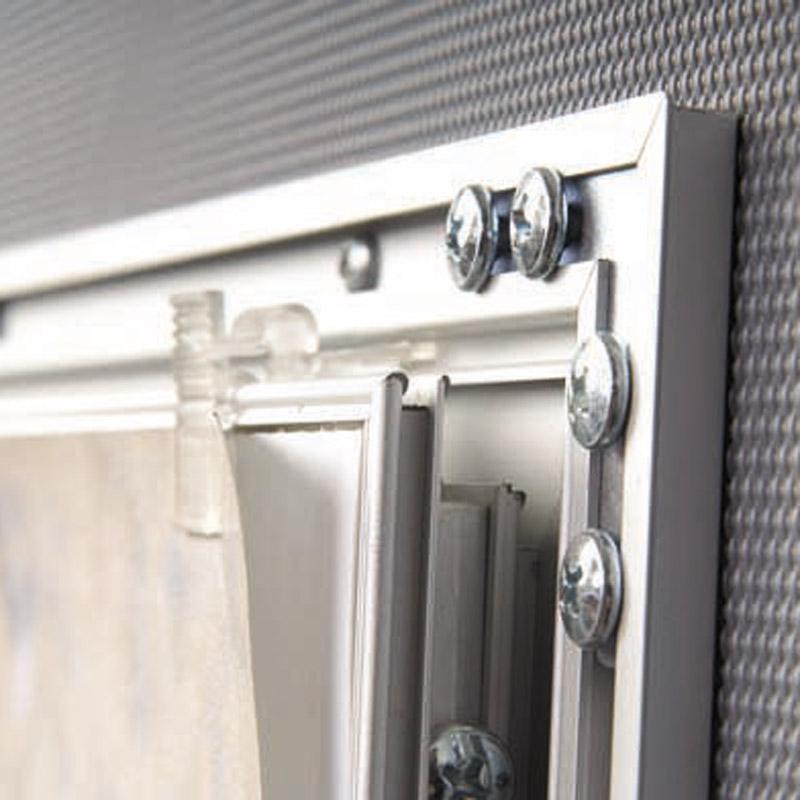 Lockable showboard A4