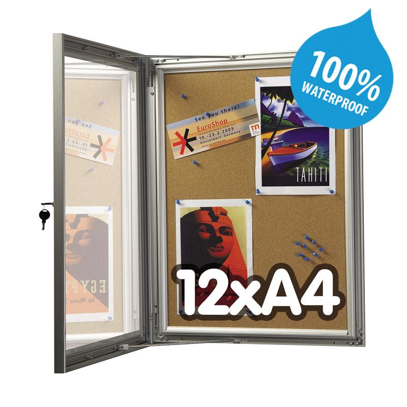 Show board cork lockable, 12 x A4