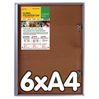 Officebord kurk 6 x A4 binnengebruik afsluitbaar