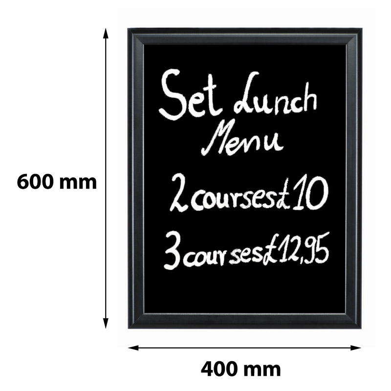 Write-on board 400 x 600 mm black