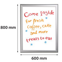 Presentatiebord 600 x 800 mm beschrijfbaar en uitwisbaar 27 mm profiel
