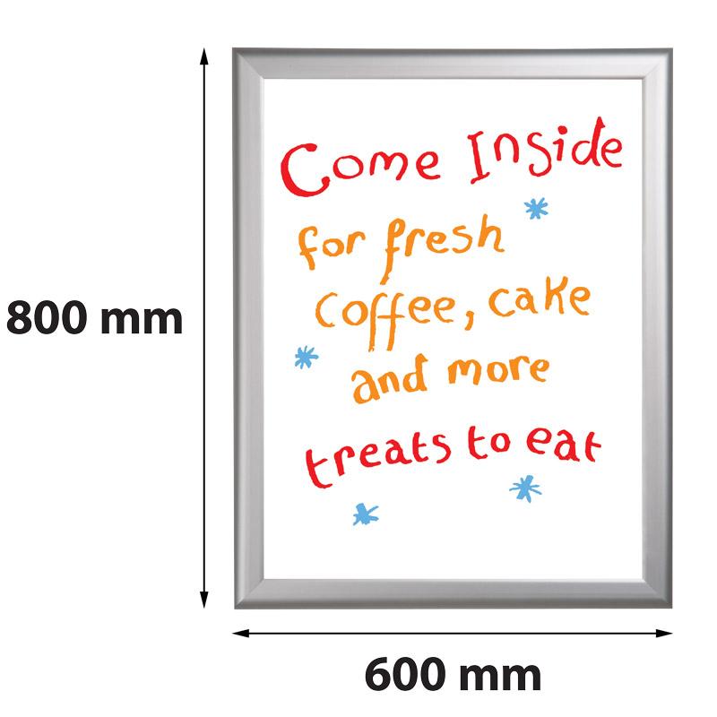 Presentatiebord 600 x 800 mm beschrijfbaar en uitwisbaar 27 mm