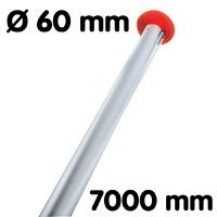 Vlaggenmast diameter 60 lengte 7000 mm wit RAL9010 wanddikte 3 mm