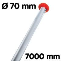 Vlaggenmast diameter 70 lengte 7000 mm wit RAL9010 wanddikte 3 mm
