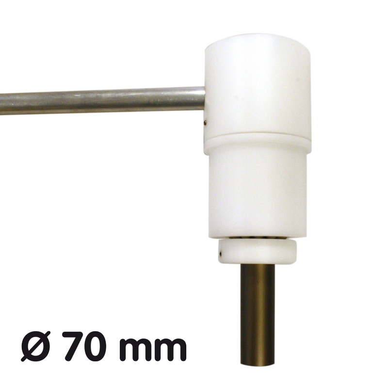 Banner Halter 70 mm 1100 mm lang, ausgestattet mit Edelstahl-Kugellager Stahl