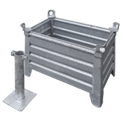 Galvanized steel case with pole mount
