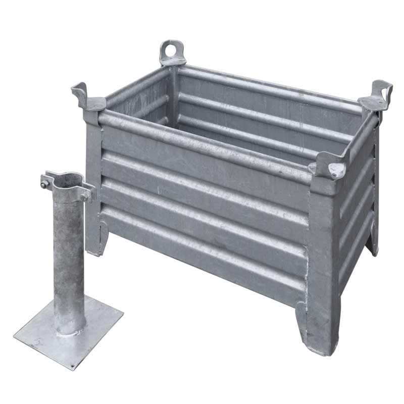 Galvanized steel case avec pole mount