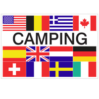 Vlag Camping + 12 landen 1000 x 1500 mm