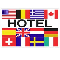 Vlag Hotel + 12 landen 1000 x 1500 mm