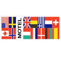 Vlag Motel + 12 landen 1500 x 2250 mm