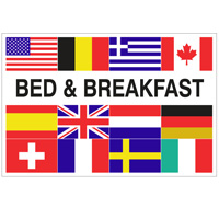 Vlag Bed & Breakfast + 12 landen 1000 x 1500 mm