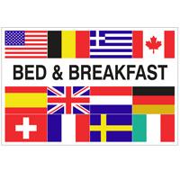 Vlag Bed & Breakfast + 12 landen 1000 x 1500 mm