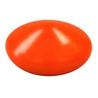 Kunststof vlaggenmastknop diameter 160 mm hoogte 60 mm messing draadbus M8 kleur oranje materiaal LL