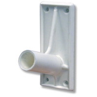 Self-adhesive PVC flagpole holder