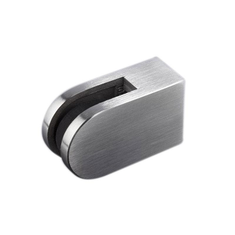 Glasklem RVS voor muurbevestiging tot 5 mm